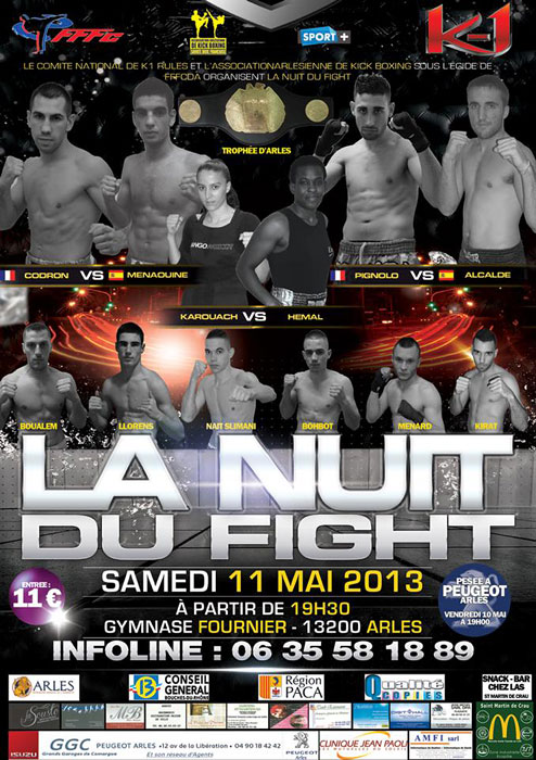La nuit du fight la boxe pieds poings par christian julia for Garage peugeot arles